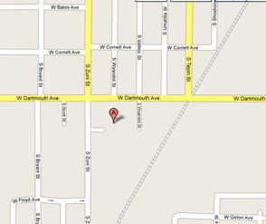 Map to Western Proscapes | 3160 South Zuni Street #201, Englewood, Colorado  80110